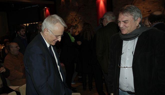 Ο Γιάννης Ραγκούσης και ο Νίκος Μπίστης σε παλιότερη εκδήλωση