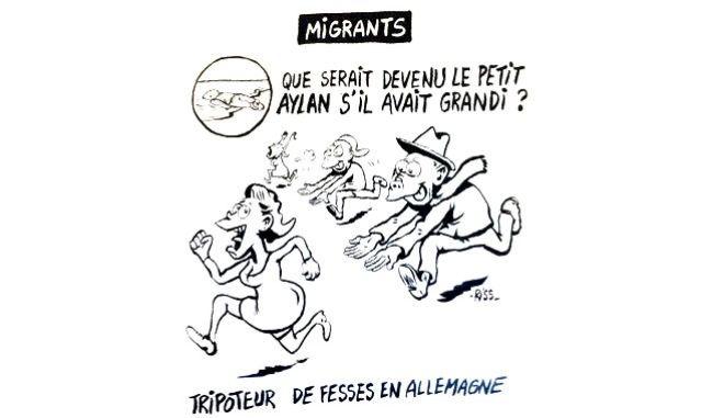 Το σκληρό σκίτσο του Charlie Hebdo για το προσφυγικό, με ήρωα τον μικρό Αϊλάν προκαλεί αντιδράσεις