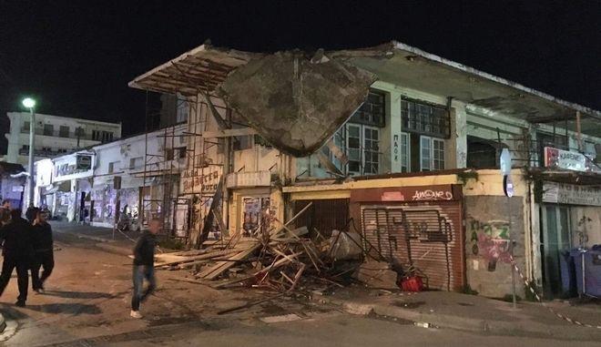 Κατέρρευσε τμήμα της οροφής της Δημοτικής Αγοράς στην Χαλκίδα