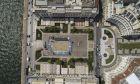 Πανοραμική φωτογραφία της Πλατείας Αριστοτέλους