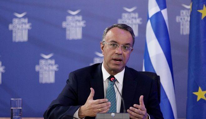 Ο υπουργός Οικονομικών Χρήστος Σταϊκούρας στο 6ο Οικονομικό  Φόρουμ Δελφών
