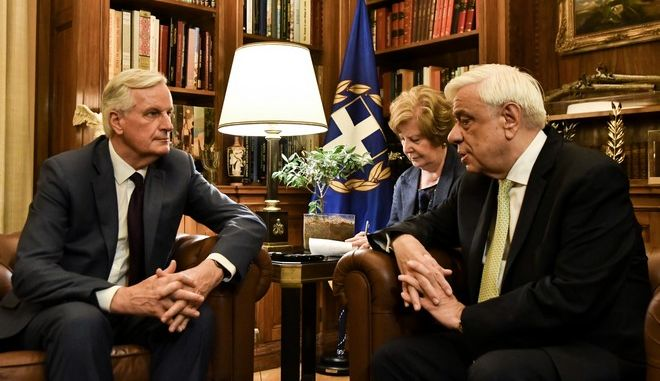 Συνάντηση του Προέδρου της Δημοκρατίας με τον Μισέλ Μπαρνιέ