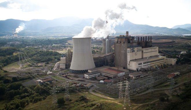 Το εργοστάσιο παραγωγής ηλεκτρικής ενέργειας της ΔΕΗ με χρήση λιγνίτη στη Μεγαλόπολη Αρκαδίας