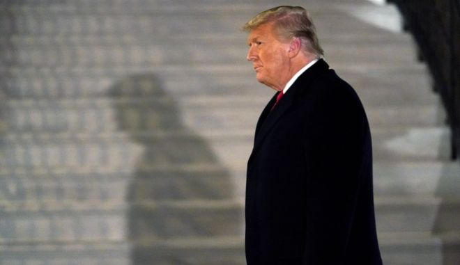 FILE - In this Tuesday, Jan. 12, 2021, file photo, President Donald Trump arrives on the South Lawn of the White House, in Washington, after returning from Texas. Twitter CEO Jack Dorsey broke his silence to defend his companys ban of Trump as the right decision, but warned that it could set a dangerous precedent. The ban, he said, revealed Twitters failure to create an open and healthy space for what Dorsey calls the global public conversation. (AP Photo/Gerald Herbert, File)