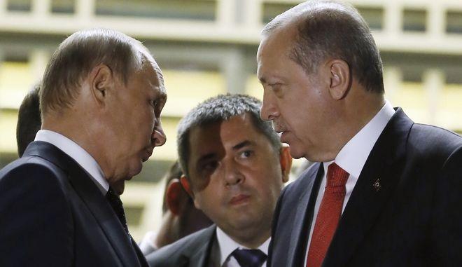 Τηλεφωνική επικοινωνία του Ρώσου προέδρου με τον Τούρκο ομόλογό του