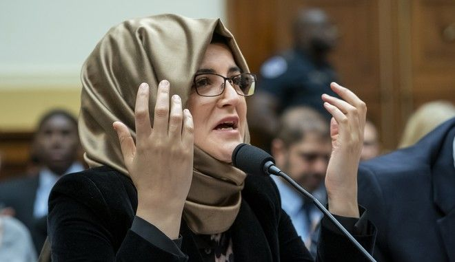 Η αρραβωνιαστικιά του Τζαμάλ Κασόγκι σε ομιλία της στο Καπιτώλιο