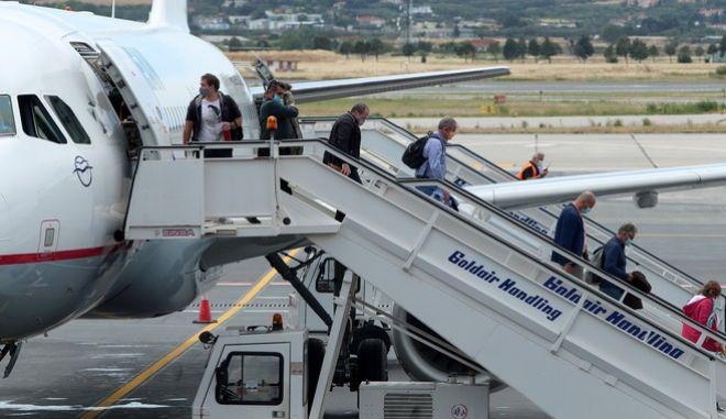 Άφιξη πτήσης από το εξωτερικό