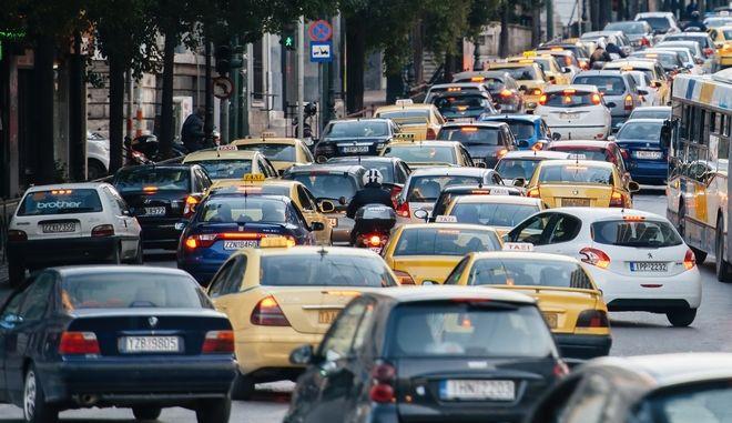 Αυξημένη κίνηση στους δρόμους. Φωτο αρχείου.