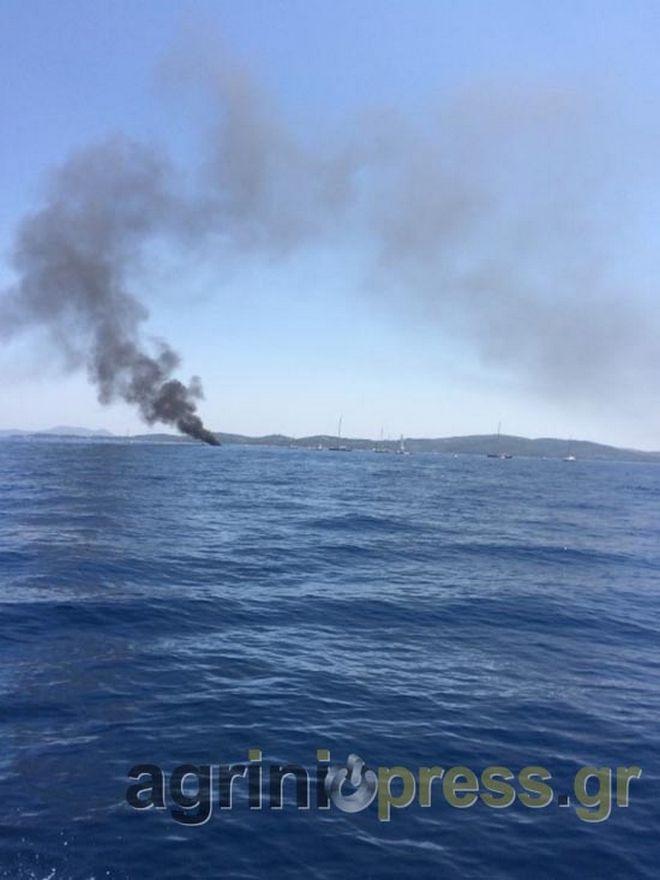 Φωτιά σε σκάφος εν πλω μεταξύ Μεγανησίου και Λευκάδας