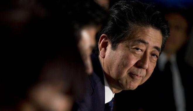 Σίνζο Άμπε, ο Πρωθυπουργός της Ιαπωνίας και πρόεδρος του Φιλελεύθερου Δημοκρατικού Κόμματος