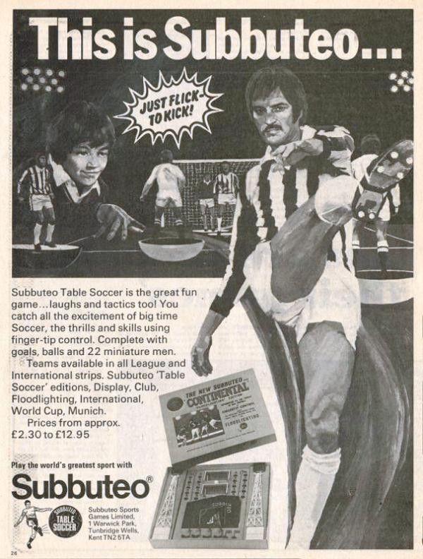 Μηχανή του Χρόνου: Η ιστορία του Subbuteo
