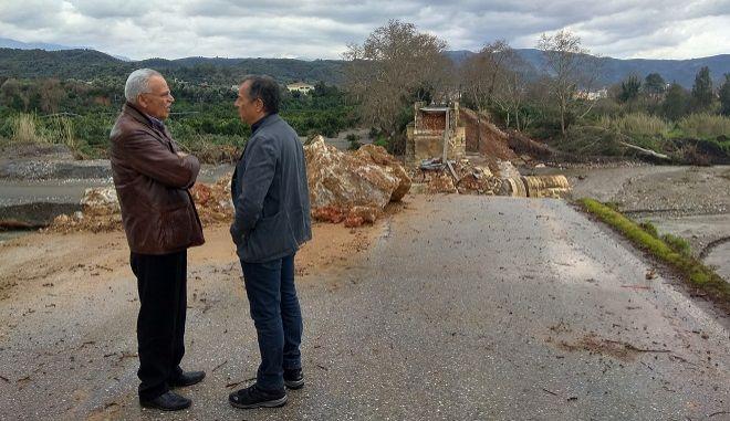 Επίσκεψη του Σταύρου Θεοδωράκη στα Χανιά, Τετάρτη 28 Φεβρουαρίου 2019.