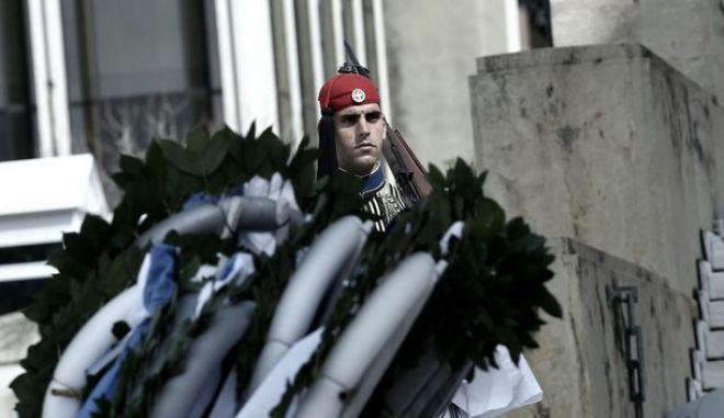 Students parade, in celebration of the beginning of the greek war for independence against the Ottoman Empire in 1821, in Athens, Mar. 24, 2015 /  ,          1821    ,  , 24 , 2015