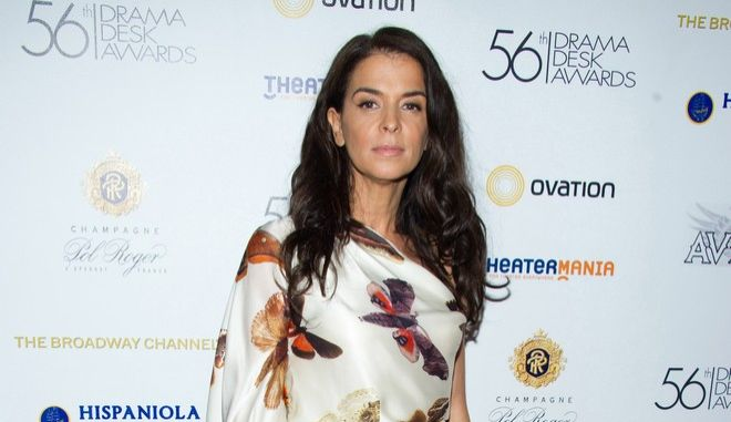 Annabella Sciorra attends the 56th annual Drama Desk Awards in New York, Monday, May 23, 2011. (AP Photo/Charles Sykes)