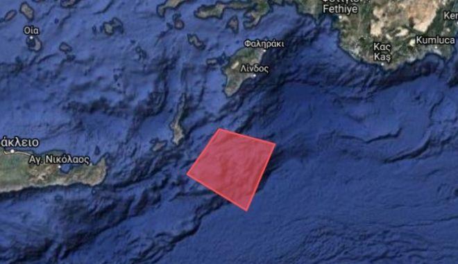 Νavtex της Τουρκίας για άσκηση νότια της Ρόδου και ανατολικά της Καρπάθου.