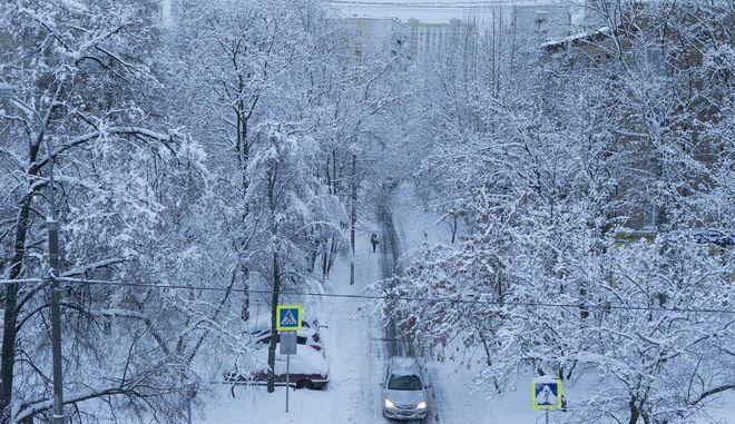 Η χιονισμένη Μόσχα τον Φεβρουάριο του 2018