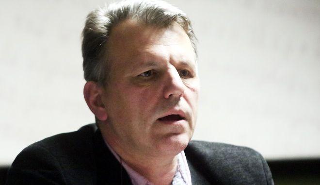 Ο Δημήτρης Χριστόπουλος, πρόεδρος της Διεθνούς Ομοσπονδίας Ανθρωπίνων Δικαιωμάτων και καθηγητής πολιτικής επιστήμης στο Πάντειο Πανεπιστήμιο