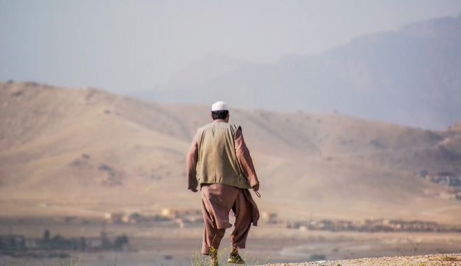 Ένας άντρας στο Αφγανιστάν