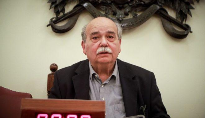 Ο πρόεδρος της Βουλής Νίκος Βούτσης σε συνεδρίαση της Επιτροπής Κανονισμού