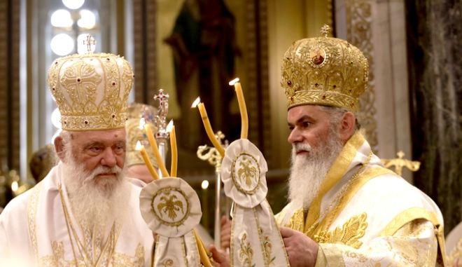 Τελεστηκε σημερα η Χειροτονια του νεου Μητροπολιτη Καλαβρυτων και Αιγιαλεια; Ιερωνυμου Καρμα απο τον Αρχιεπισκοπο Ιερωνυμο. Ο νεος Μητροπολιτη διαδεχθηκε στον Μητροπολιτικο Θρονο τον παραιτηθεντα Μητροπολιτη Αμβροσιο  ΦΩΤΟ ΧΡΗΣΤΟΣ ΜΠΟΝΗΣ