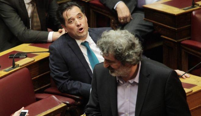 Παύλος Πολάκης και Άδωνις Γεωργιάδης στην Βουλή