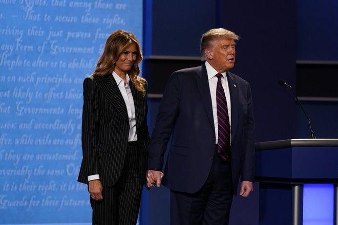 Ντόναλντ και Μελάνια Τραμπ στο πρώτο debate για τις αμερικανικές εκλογές