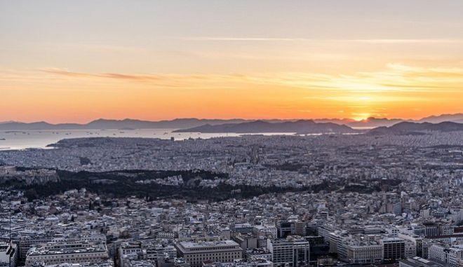 Η πόλη της Αθήνας από ψηλά