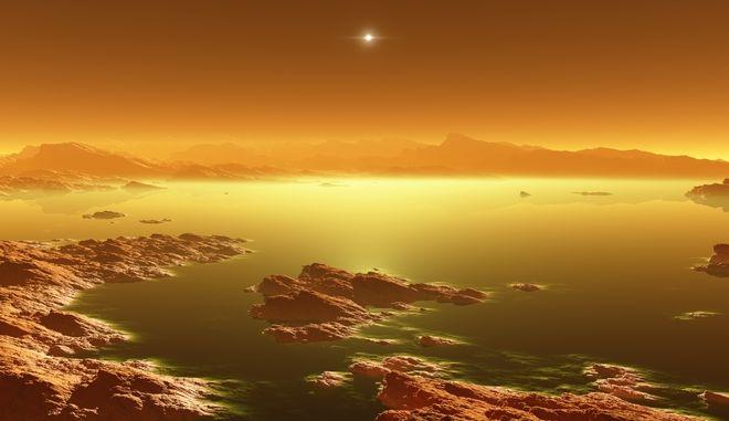 Τιτάνας, δορυφόρος του ηλιακού μας συστήματος - 3D απεικόνιση