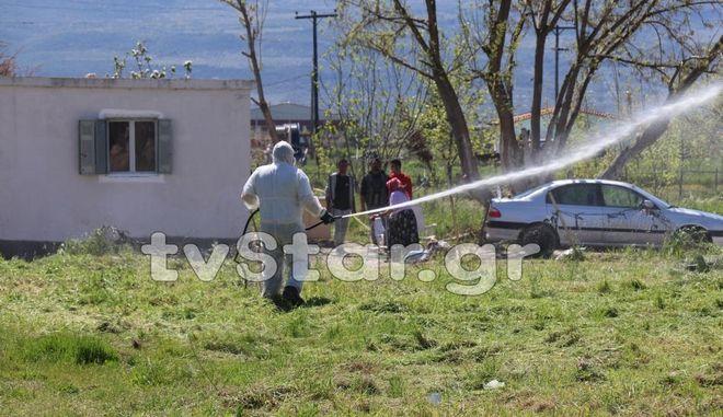 Λαμία: Απολύμανση σε χώρους όπου διαμένουν Ρομά