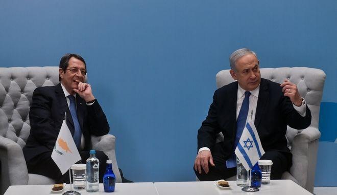Συνάντηση του Προέδρου της Κύπρου Νίκου Αναστασιάδη με τον Ισραηλινό Πρωθυπουργό Μπ. Νετανιάχου