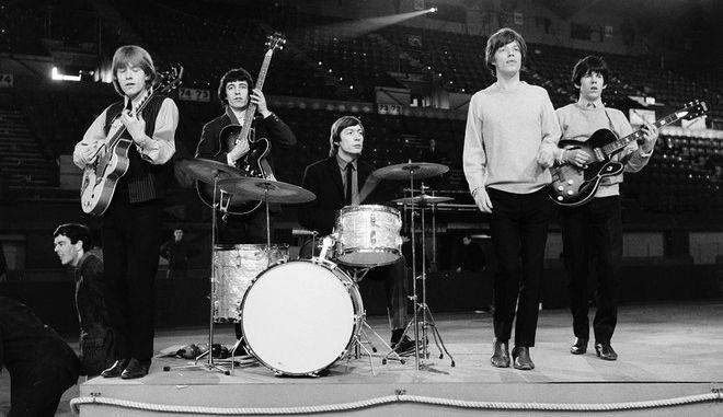 Οι Rolling Stones κατά τη διάρκεια πρόβας