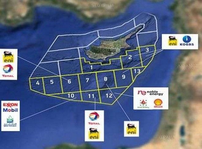 NAVTEX Τούρκων στην Κύπρο που επηρεάζει οικόπεδα που ελέγχουν Exxon, Total-Eni και Shell