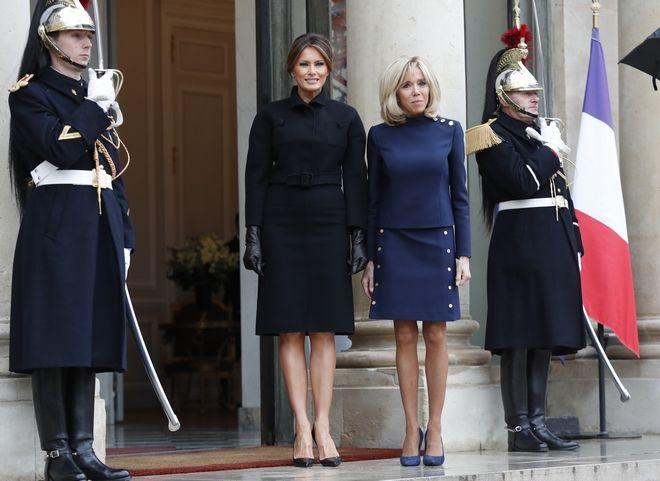 Brigitte Macron και Melania Trump στο Elysee