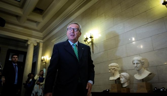 Meeting between the Greek Prime Minister Antonis Samaras and the upcoming president of the European Commission Jean-Claude Juncker /