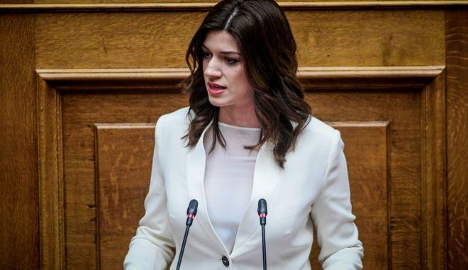 Η υπουργός Μακεδονίας Θράκης, Κατερίνα Νοτοπούλου