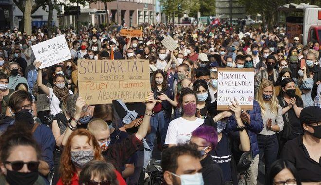 Από τη διαδήλωση στο Βερολίνο