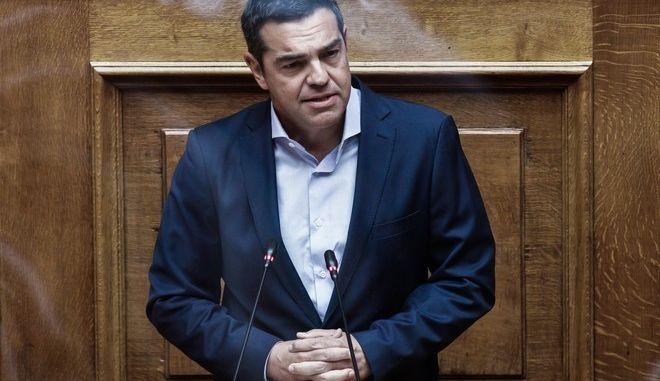 Ο Αρχηγός της Αξιωματικής Αντιπολίτευση, Αλέξης Τσίπρας