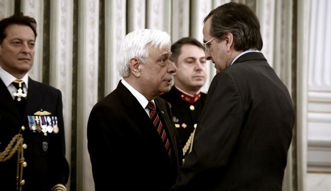 Greek Authorities and institutions pay respects to the new President of the Democracy /