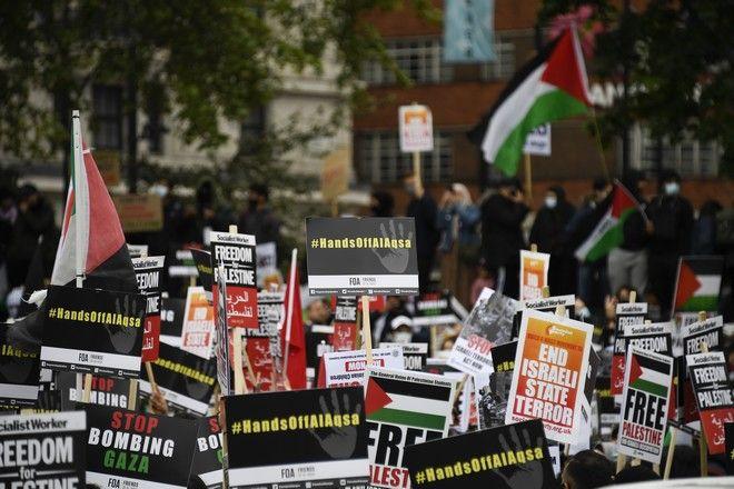 Διαδήλωση υπέρ των Παλαιστινίων στο Λονδίνο