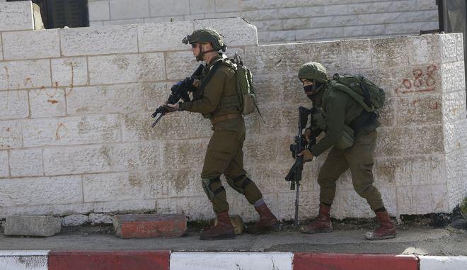 Στρατιώτες του Ισραήλ στη Δυτική όχθη