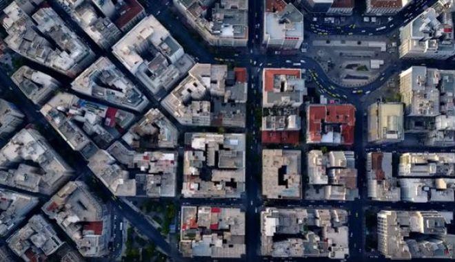 Βίντεο Drone: Η Ομόνοια και η πλατεία Κάνιγγος από ψηλά