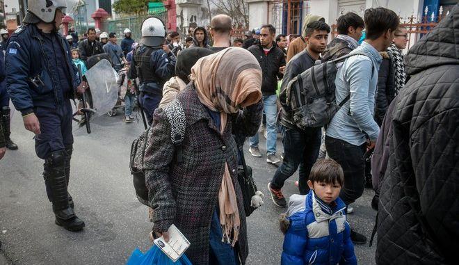 Πρόσφυγες στην Μόρια (ΦΩΤΟ Αρχείου)
