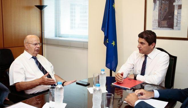 Ο Πρόεδρος της ΕΟΚ και ο Υφυπουργός Αθλητισμού
