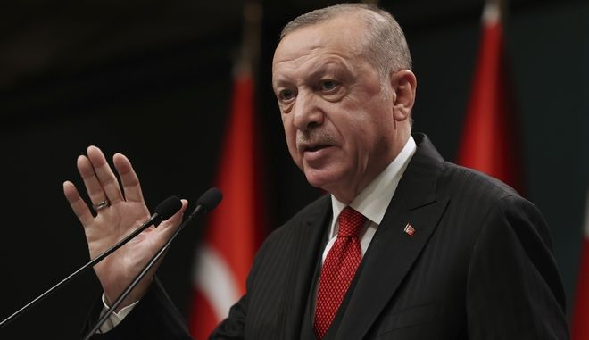 O Τούρκος πρόεδρος Ερντογάν.