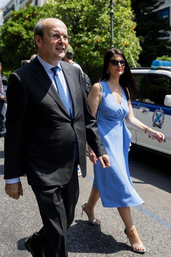 Ο Κωστής Χατζηδάκης και η σύζυγός του