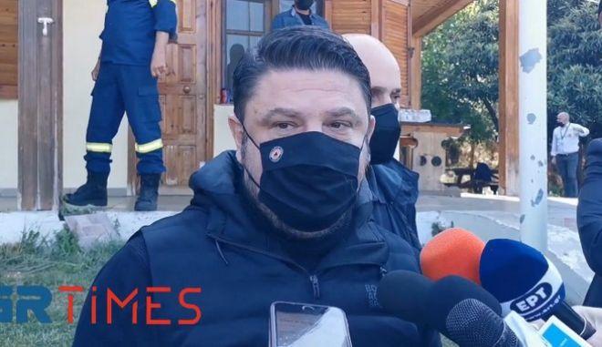Ο υφυπουργός Πολιτικής Προστασίας και Διαχείρισης Κρίσεων, Νίκος Χαρδαλιάς.