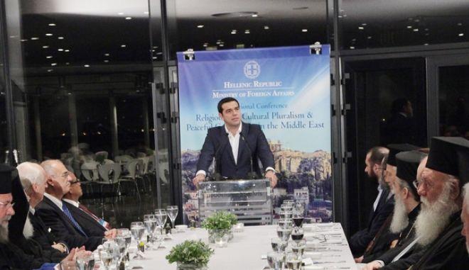 ΑΘΗΝΑ-Διαθρησκευτικό συνέδριο  ομιλία του πρωθυπουργού Αλέξη Τσίπρα.(Eurokinissi-ΠΑΝΑΓΟΠΟΥΛΟΣ ΓΙΑΝΝΗΣ)