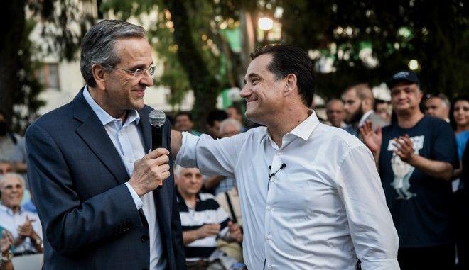 Προεκλογική ομιλία του υποψήφιου στην Β' Αθηνών Βόρειος Τομέας της Νέας Δημοκρατίας Άδωνι Γεωργιάδη στο Μαρούσι , Τετάρτη 3 Ιουλίου 2019 (EUROKINISSI/ΜΙΧΑΛΗΣ ΚΑΡΑΓΙΑΝΝΗΣ)