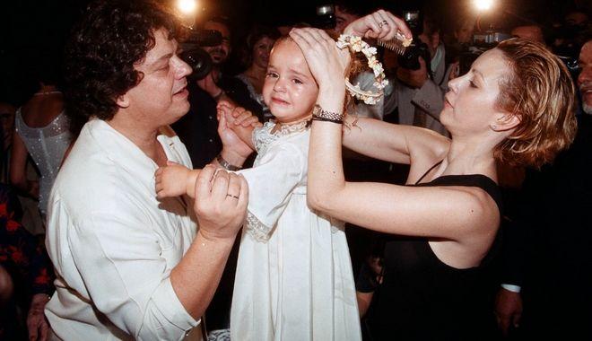 Βλάσσης Μπονάτσος στη βάφτιση της κόρης του