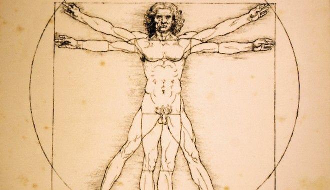 Ο Άνθρωπος του Βιτρούβιου του Λεονάρντο Ντα Βίντσι